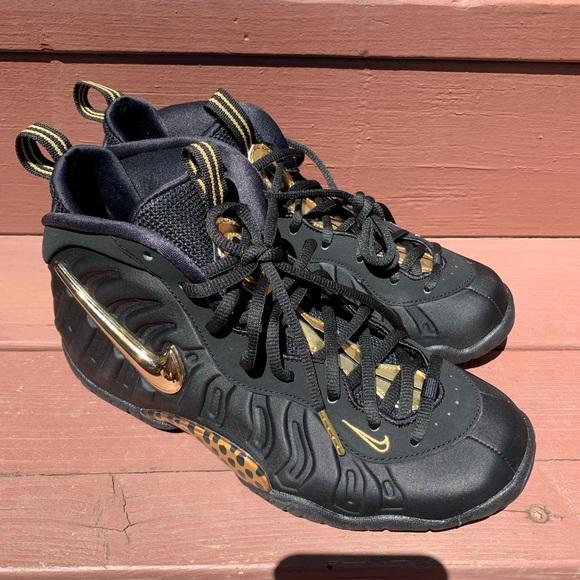 Nike Shoes - New Nike Air FoamPosite Pro Black Metallic Gold
